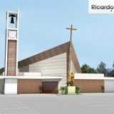 Fachada projetada, Igreja de Sao Francisco, Guaratingueta, SP
